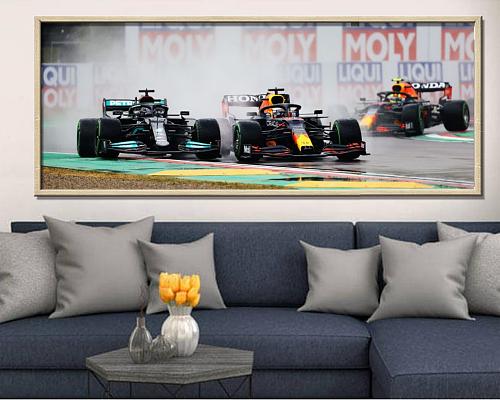 2021Formula 1 Max Verstappen VS Lewis Hamilton Print Canvas Art