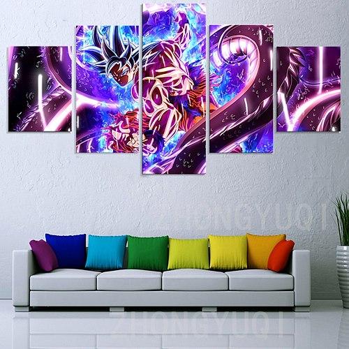 5 Pieces Goku Dragon-Ball Canvas Wall art