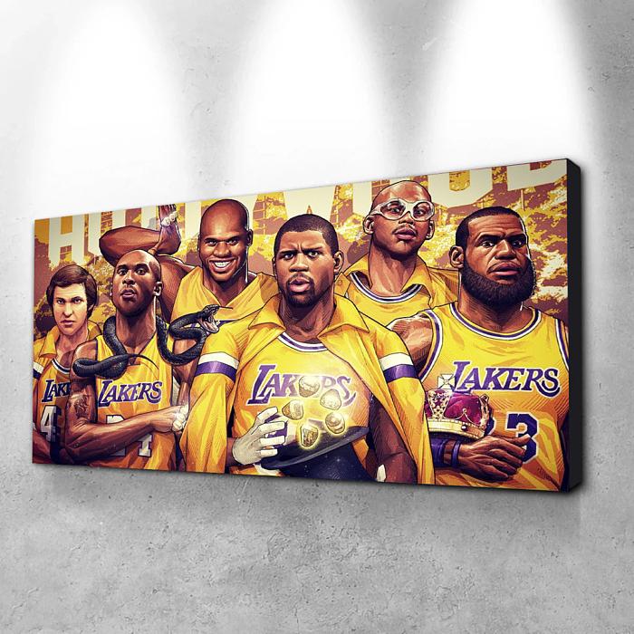 LA Lakers Famous Players Canvas Wall Art