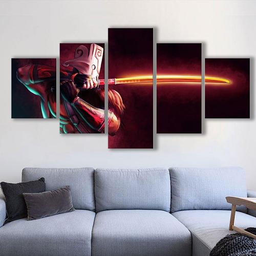 5 Pieces DOTA2 JuggernautCanvas Wall art