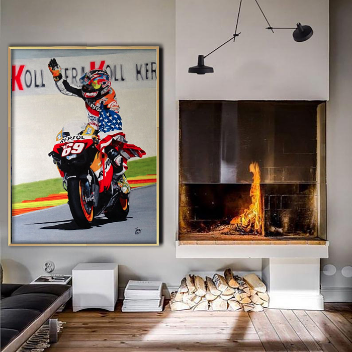 Nicky Hayden MotoGP Canvas Wall Art