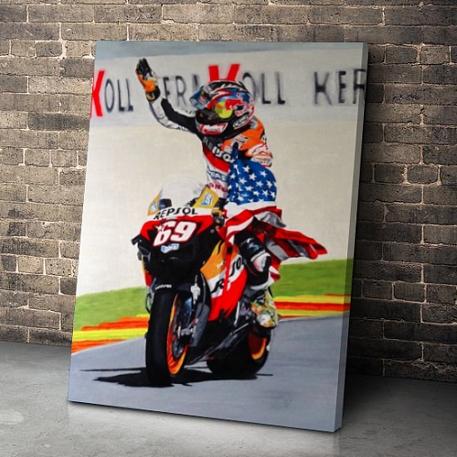 Nicky Hayden MotoGP Canvas Wall Art