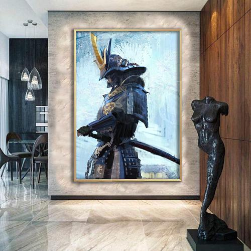 Dark Samurai Canvas Wall Art