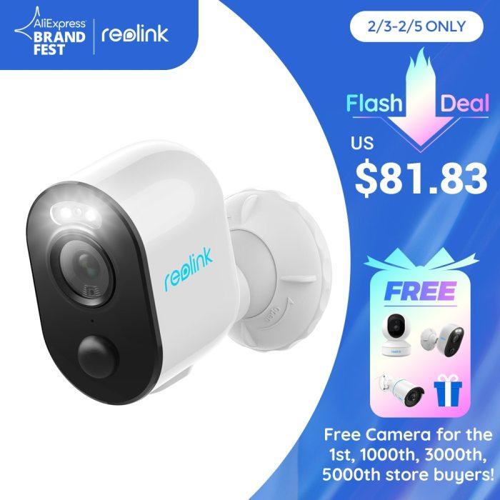 Reolink Argus 3 rechargeable battery camera solar powered 1080p Full HD spotlight color night IP65 weaterproof PIR  2-way audio