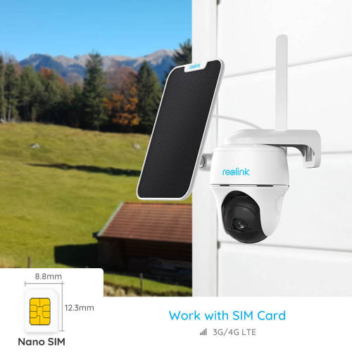 Reolink GO PT battery camera 4G LTE 1080p solar panel powered  Pan Tilt PIR motion detection 2-way audio for outdoor security