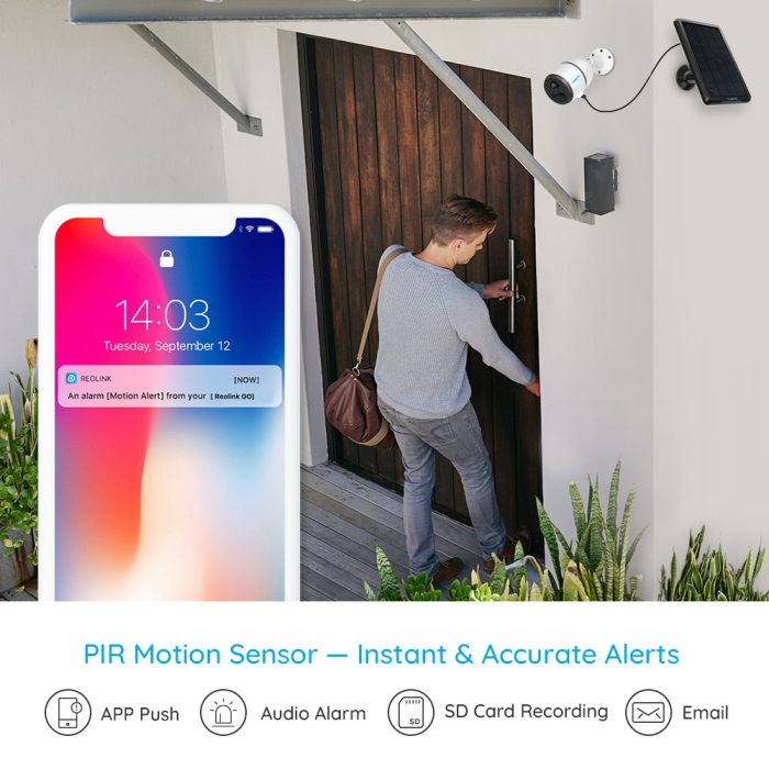 Reolink 4G LTE camera GO 1080p starlight night vision work with SIM card weatherproof Rechargeable Battery Powered ip camera