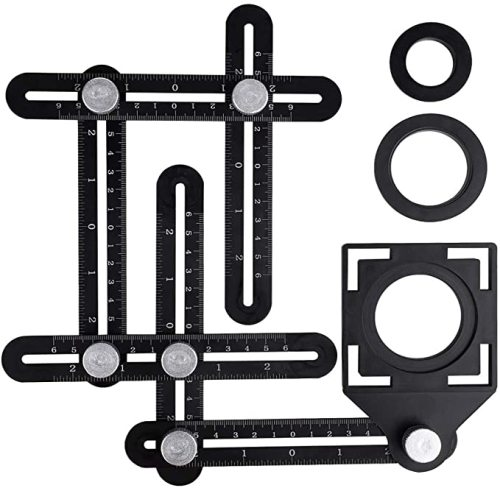 Aluminum alloy multi-function six-fold ruler angle finder Guide Locator