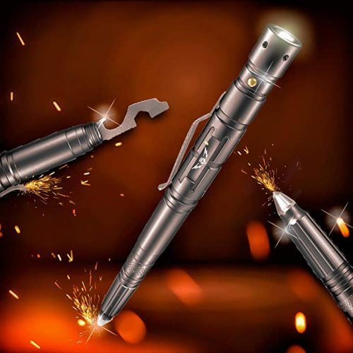 New Tactical Pen + LED Tactical Flashlight  Multi-Tool for Everyday Carry