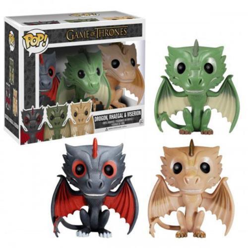 Funko Pop Game Of Thrones 3-pack Drogon, Rhaegal & Viserion