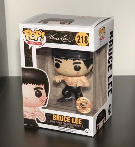 Funko Pop Bruce Lee#218 Enter the Dragon Black Pants Bait Exclusive Vinyl Figure