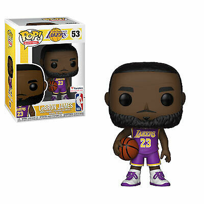 Funko Pop NBA Basketball Los Angeles Lakers Lebron James #53 (Purple Jersey)