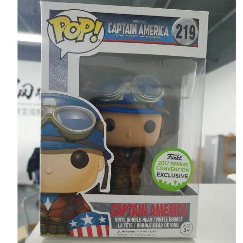 Funko pop Captain America Exclusive 2017 #219 Spring Convention Action Vinyl Figure