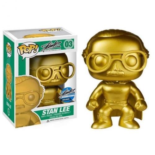 Funko Pop Stan Lee #03 Gold Superhero 2015 Comikaze Exclusive (NYCC)