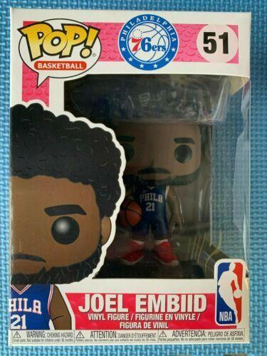 NBA 76ers Joel Embiid Pop! Vinyl FREE Global Shipping
