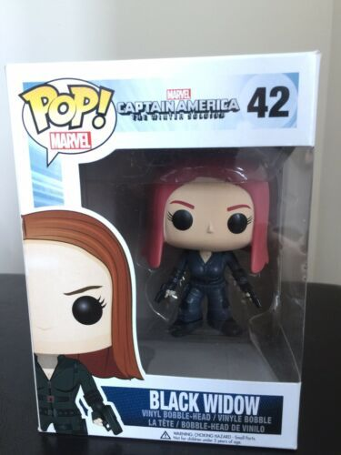 Funko POP Marvel Captain America The Winter Soldier Black Widow #42 VAULTED