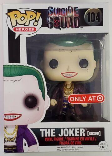 Funko Pop! The Joker (Boxer) Target Exclusive #104 Suicide Squad Jared Leto Gunn
