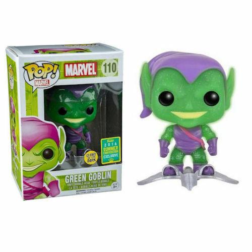 Funko Pop Marvel Green Goblin #110 GITD W/ Glider Glitter SDCC LE Vaulted 2016