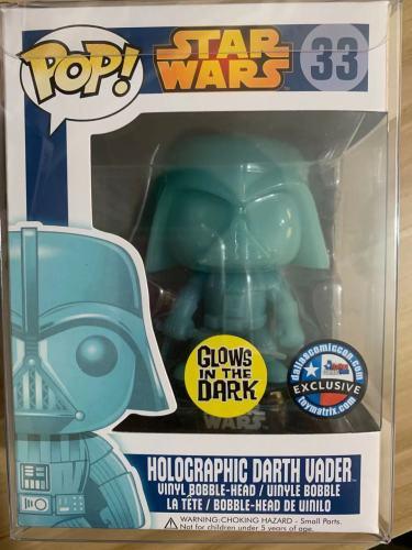 Funko Pop Star Wars Holographic Darth Vader 33 Vinyl Figure