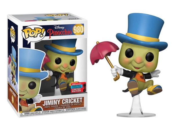 Funko Pop! Disney: Pinocchio - Jiminy Cricket 980 with Umbrella Vinyl Figure