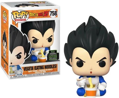 Funko Pop! Dragon Ball Z: Vegeta Eating Noodles #758