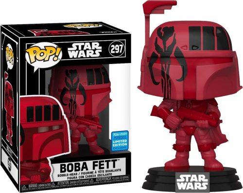 Funko Pop 2020 Wondercon Shared Exclusive Star Wars #297 Futura Boba Fett (Red)