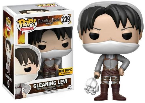 Funko Pop Attack on Titan Cleaning Levi 239 Hot Topic Exclusive Figure
