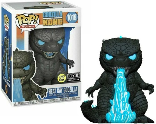 Funko Pop Movies Godzilla vs Kong Heat Ray Godzilla #1018 [Glows in the Dark] Exclusive