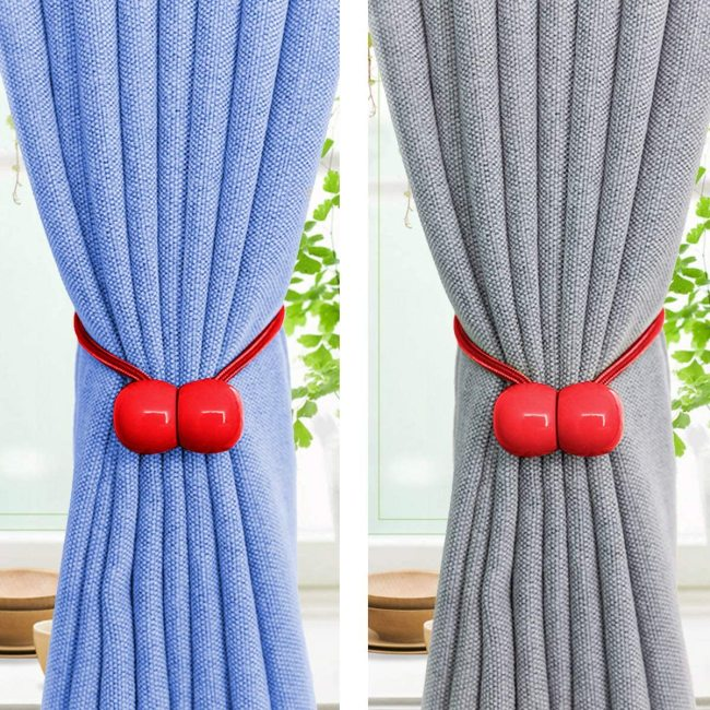 YEGUO 2 PCS Curtain Tiebacks Twist Curtain Tiebacks Random Modeling Window Curtain Holdbacks Decorative Home Office Rope Hook for Window Blackout and Sheer Panels