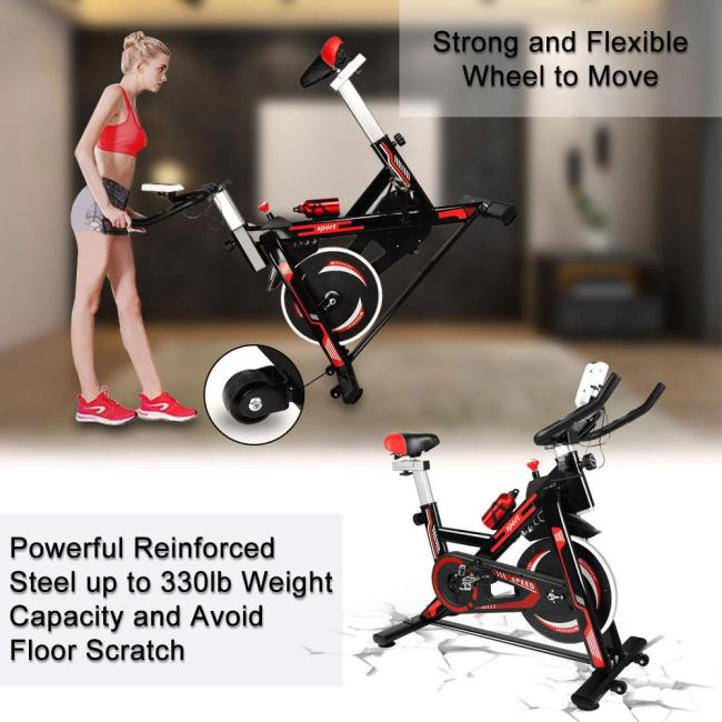 Exercise Bike with LCD Display & Adjustable Resistance
