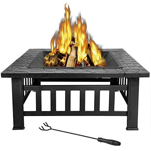 2021 Only $24.99 on the LAST DAY�� Wood Burning Fire Pit, 32 Inch Outdoor Backyard Patio Fire Pit