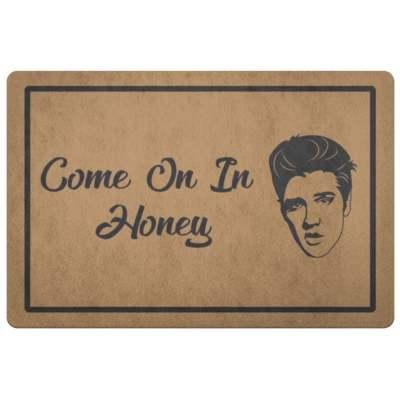 Elvis Doormat Come On In Honey