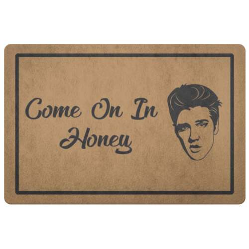 Elvis Doormat Come On In Honey