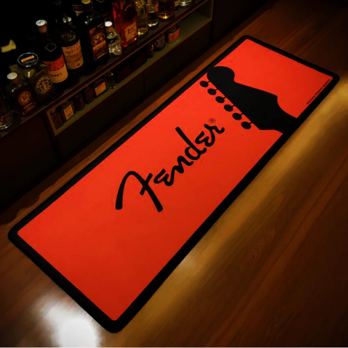 Fender Guitar Printed Rug