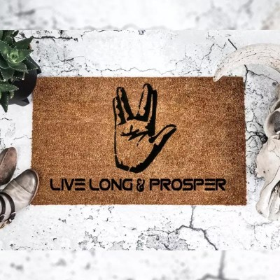 Live Long & Prosper - Spock - Star Trek - Doormat