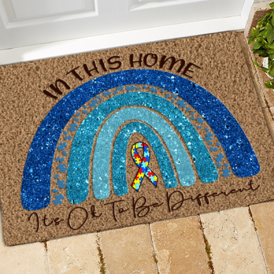 Autism Doormat In This Home It's Ok To Be Different