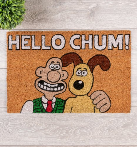 Wallace And Gromit Hello Chum DoorMat