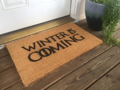Winter Is Coming - Game Of Thrones Welcome Mat