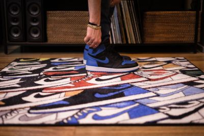 Spilled Sneaker Rugs DOOR MAT