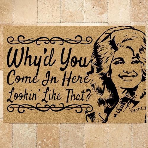 Dolly Parton Inspiration Doormat