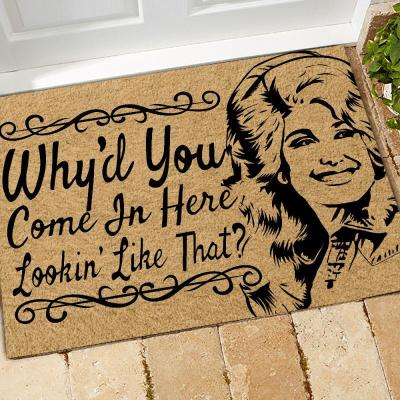 Dolly Parton Inspiration Doormat
