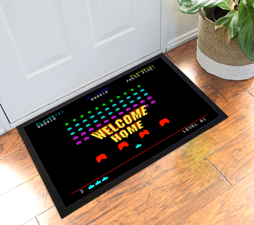 Retro Gaming & Space Inspired Invaders Doormat