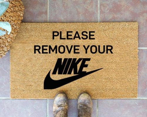 Please Remove Your NIKE Doormat