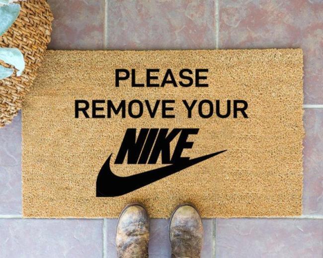 Please Remove Your NIKE Doormat