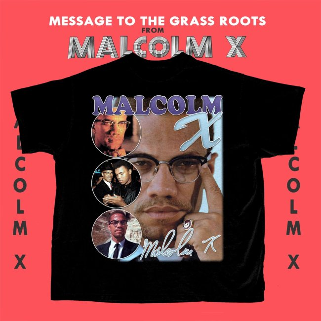Malcolm X Design T-Shirt