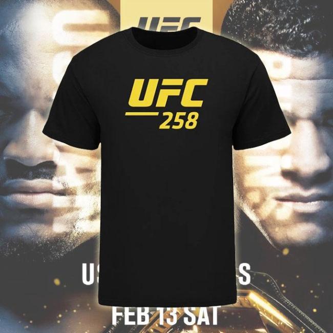 Men's UFC 258 Event T-Shirt