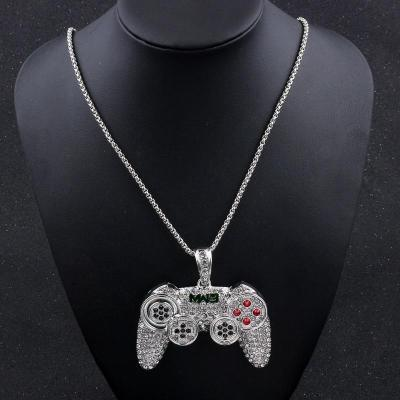 NWT Iced Out Game Controller Pendant Necklace