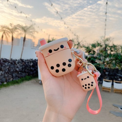 BobaFairy Apple Airpods Case Cover --Boba case + Tiny boba keychain