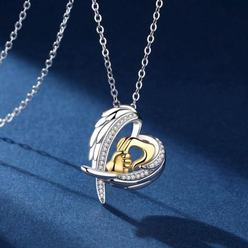 Mom & Child Guardian Angel Necklace