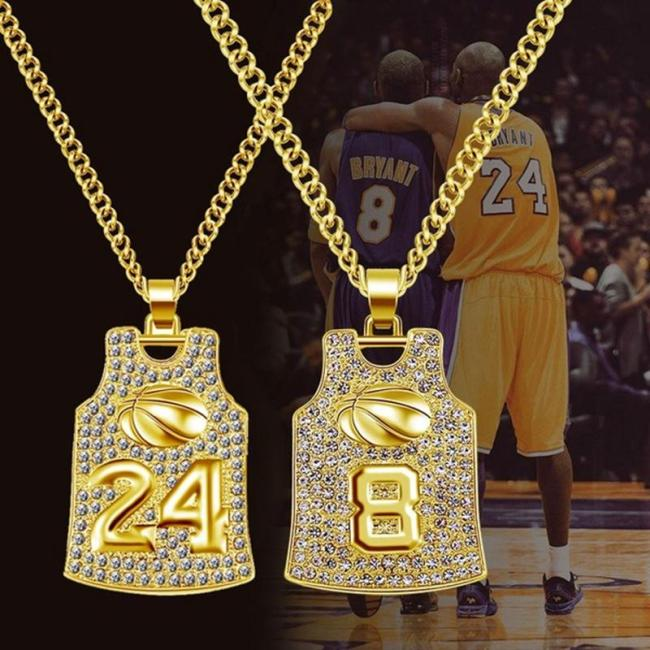 """Number """"8""""/""""24"""" Jersey Pendant Necklaces"""