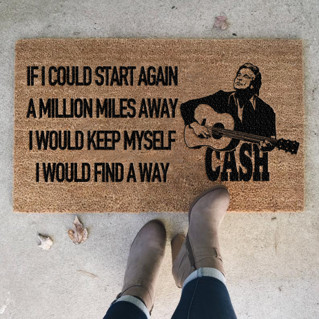 Johnny Cash Doormat